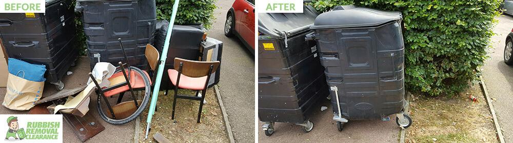HA9 household waste Tokyngton