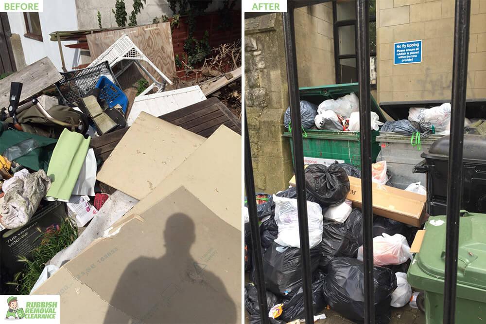 Newington Green plastic waste bins N16