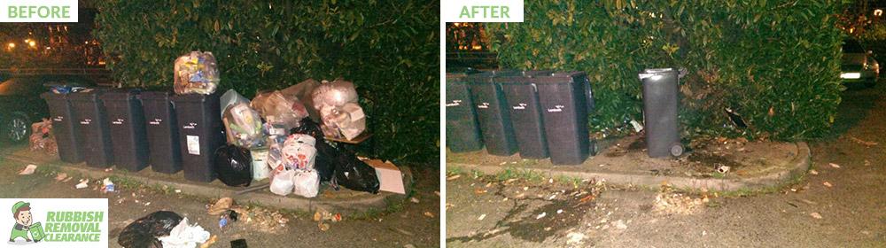 Streatham plastic waste bins SW16